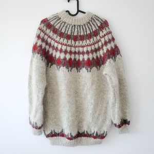 handknit oversized wool sweater